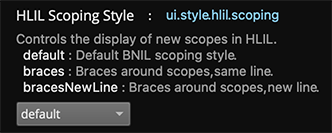 HLIL Scoping Options