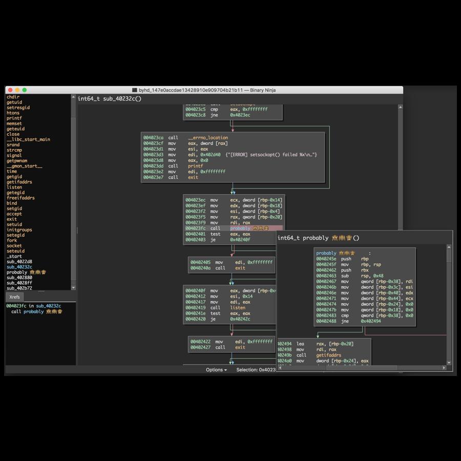 binary ninja : a reverse engineering platform